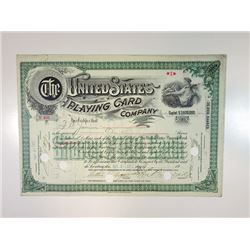 United States Playing Card Co., 1917 I/C Stock Certificate.