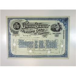 United States Playing Card Co., 1927 I/C Stock Certificate.
