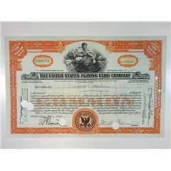 United States Playing Card Co., 1948 I/C Stock Certificate.