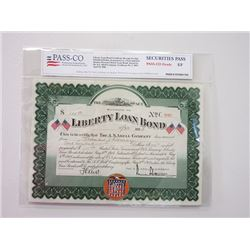 Liberty Loan Bond, 1918 Issued Bond