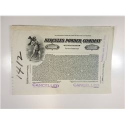 Hercules Powder Co. 1915 Proof Stock Certificate.