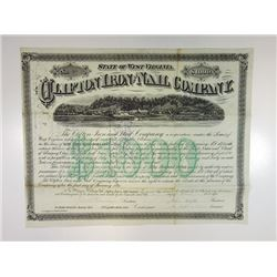 Clifton Iron & Nail Co., 1870 I/C Bond with Amazing Vignette