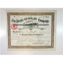 Alaska Gold Co., 1890 Stock Certificate.
