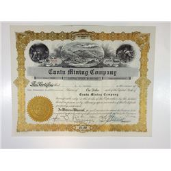 Cantu Mining Co., 1934 Issued Stock Certificate