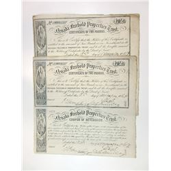 Nevada Freehold Properties Trust, 1869 Uncut £2 Bond with Coupon of Revision Pair.