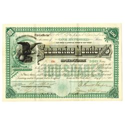 Submarine Monitor Co. of N.Y. 1885 Issued Stock Certificate.