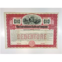 Consolidated Railway Co., 1904 Specimen Bond