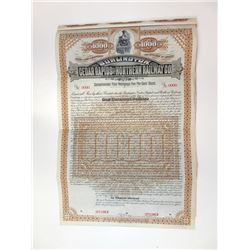 Burlington, Cedar Rapids and Northern Railway Co., 1884 Specimen Bond