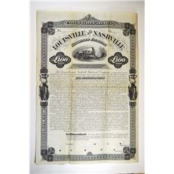 Louisville and Nashville Railroad Co., 1880 Specimen Bond Rarity.