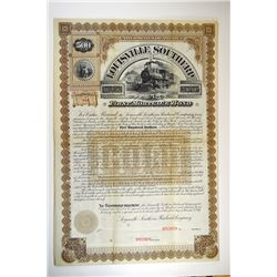 Louisville Southern Railroad Co., 1887 Specimen Bond.