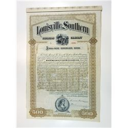 Louisville Southern Railroad Co., 1890 Issued Bond