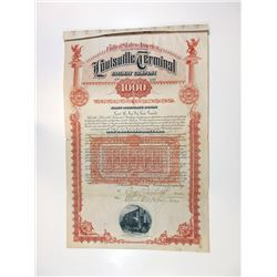 Louisville Terminal Railway Co., 1892 Issued Bond