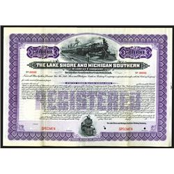 Lake Shore & Michigan Southern Railway Co. 1903 Specimen Bond.