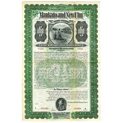 Mankato and New Ulm Railway Co., 1899 Specimen Bond.