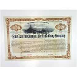Saint Paul and Northern Pacific Railway Co., 1923 Specimen Bond