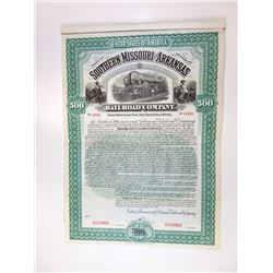 Southern Missouri and Arkansas Railroad Co., 1899 Specimen Bond