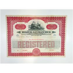 St. Louis-San Francisco Railway Co., 1928 Specimen Bond