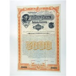 Montana Central Railway Co. 1887 Territorial Specimen Bond.