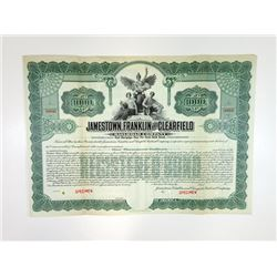 Jamestown, Franklin and Clearfield Railroad Co., ca.1900-1920 Specimen Bond