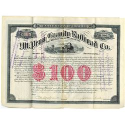 Mt.Penn Gravity Railroad Co., 1891 issued Coupon Bond.