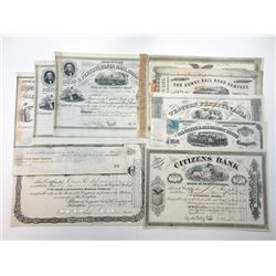 Pennsylvania Railroad Bond and Stock Certificates ca.1803-1888