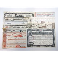 Pennsylvania Railroad Bond and Stock Certificates ca.1854-1894