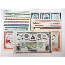 Pennsylvania Railroad Bond and Stock Certificates ca.1871-1921