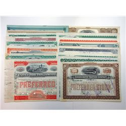 Pennsylvania Railroad Bond and Stock Certificates ca.1891-1919