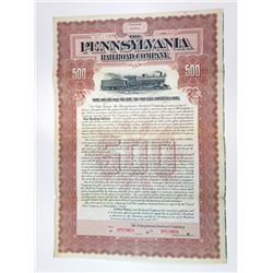Pennsylvania Railroad Co., 1902 Specimen Bond