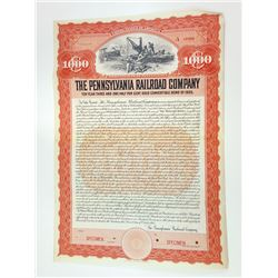 Pennsylvania Railroad Co., 1905 Specimen Bond