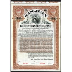 San Juan Light and Transit Company, 1901 Specimen Gold Bond.