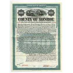 County of Monroe, 1905 Specimen Bond