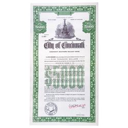 City of Cincinnati, 1963 Specimen Bond