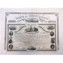 Pair of Issued and Cancelled Bonds, 1861-1870