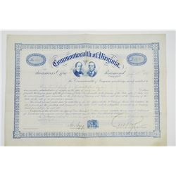 Commonwealth of Virginia, 1871 Issued Bond