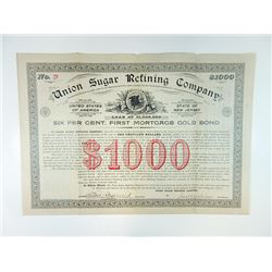 Union Sugar Refining Co., 1896 Specimen Bond