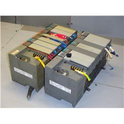 ALLEN BRADLEY (2) 1746-A7 7 SLOT RACKS WITH MISC MODULES - SEE PICS FOR MODULE TYPES!!