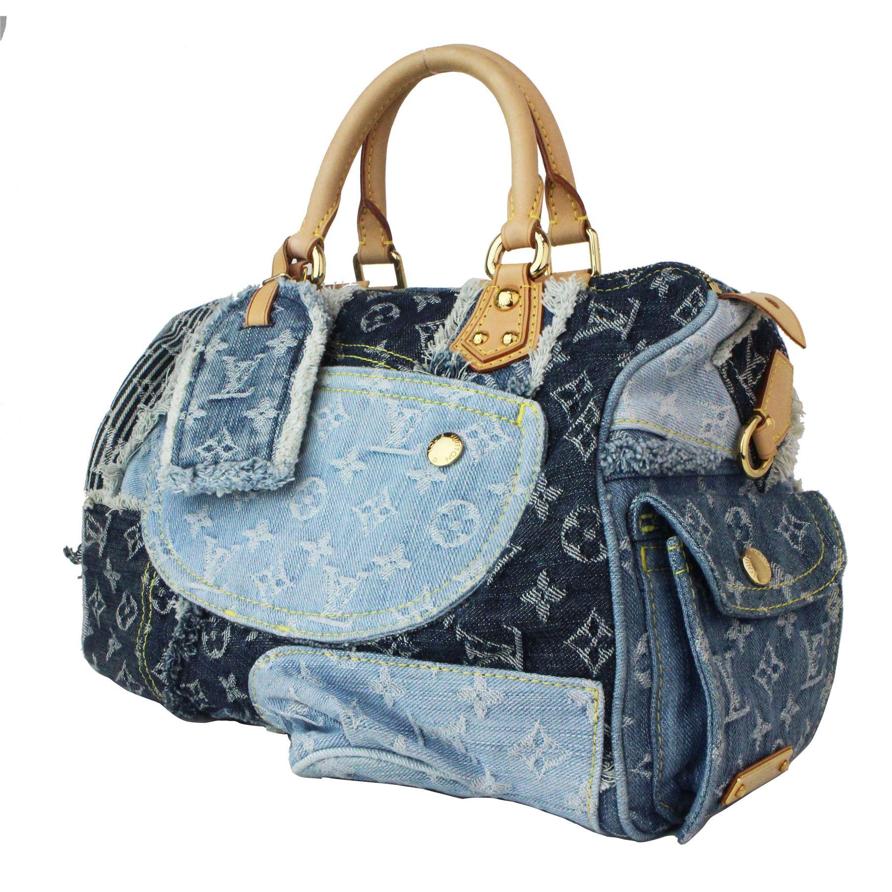 310284cdac19 ... Image 2   LOUIS VUITTON Limited Edition Speedy 30 Hand Bag Denim  Patchwork ...