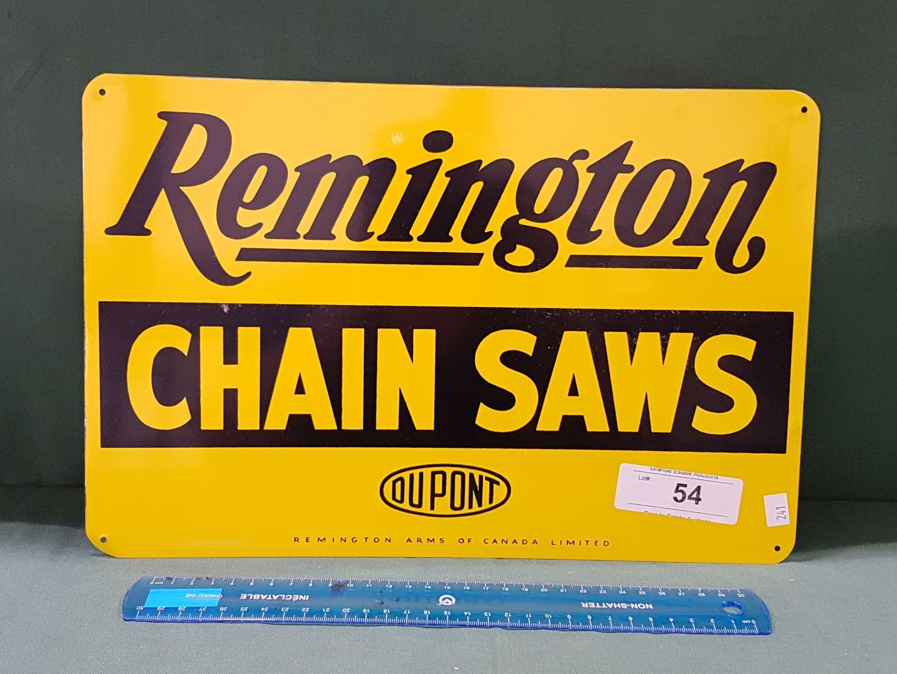 Remington Chain Saws Rustic Retro Metal Decor Sign