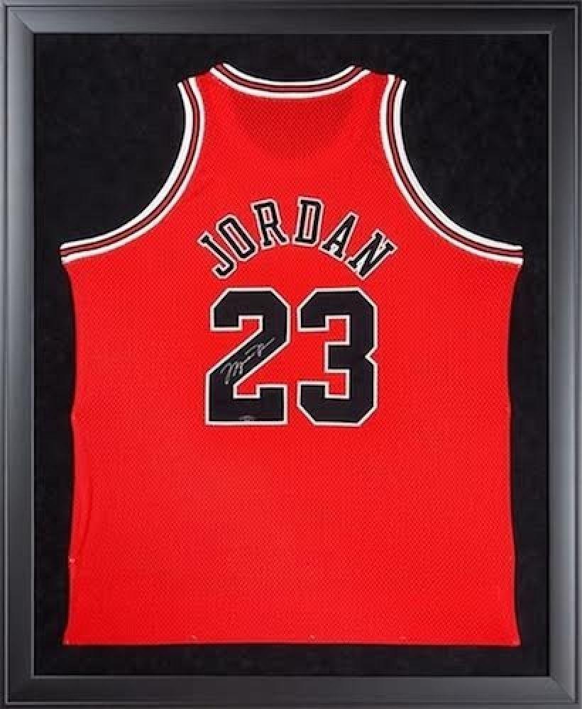 49e76a382dcd Image 1   Michael Jordan Signed Bulls 32x44 Custom Framed Authentic Mitchell  Ness Jersey (UDA