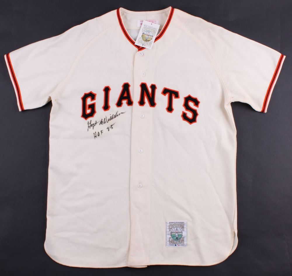 official photos 4941a 7eec0 Hoyt Wilhelm Signed Giants Throwback Jersey Inscribed ...