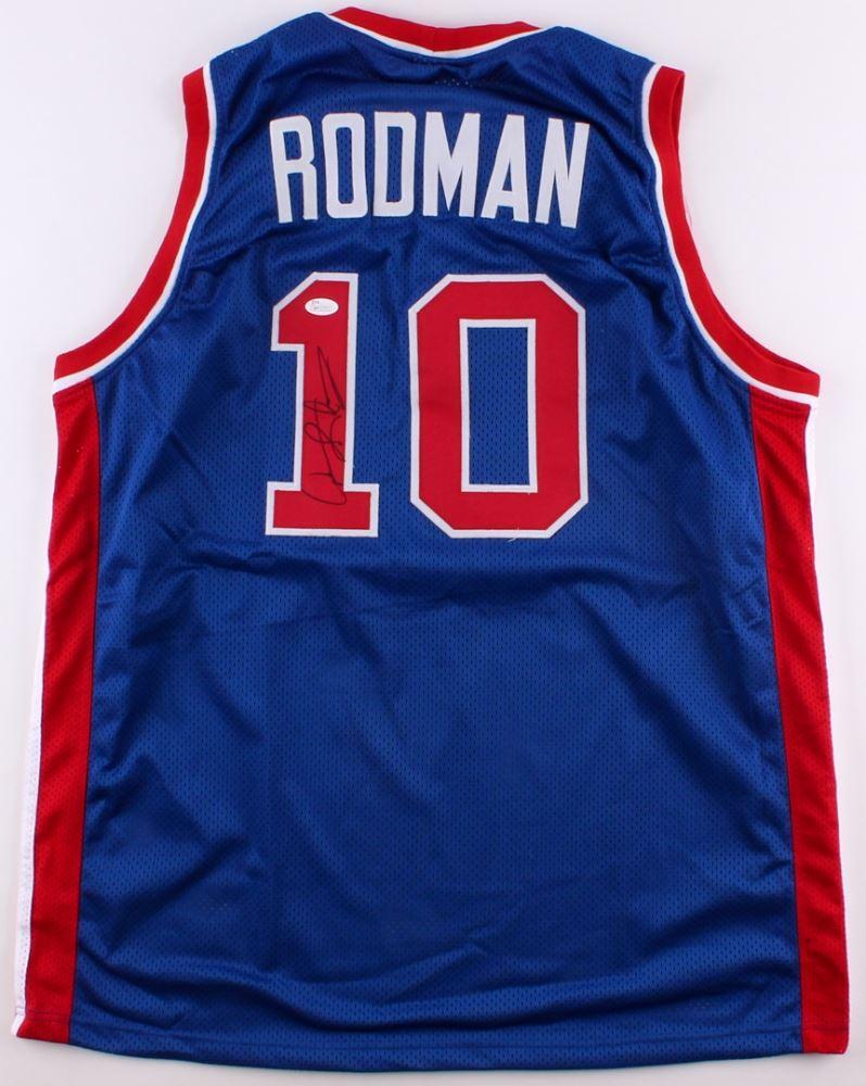 official photos 0ac7f 513e4 Dennis Rodman Signed Pistons Jersey (JSA COA)