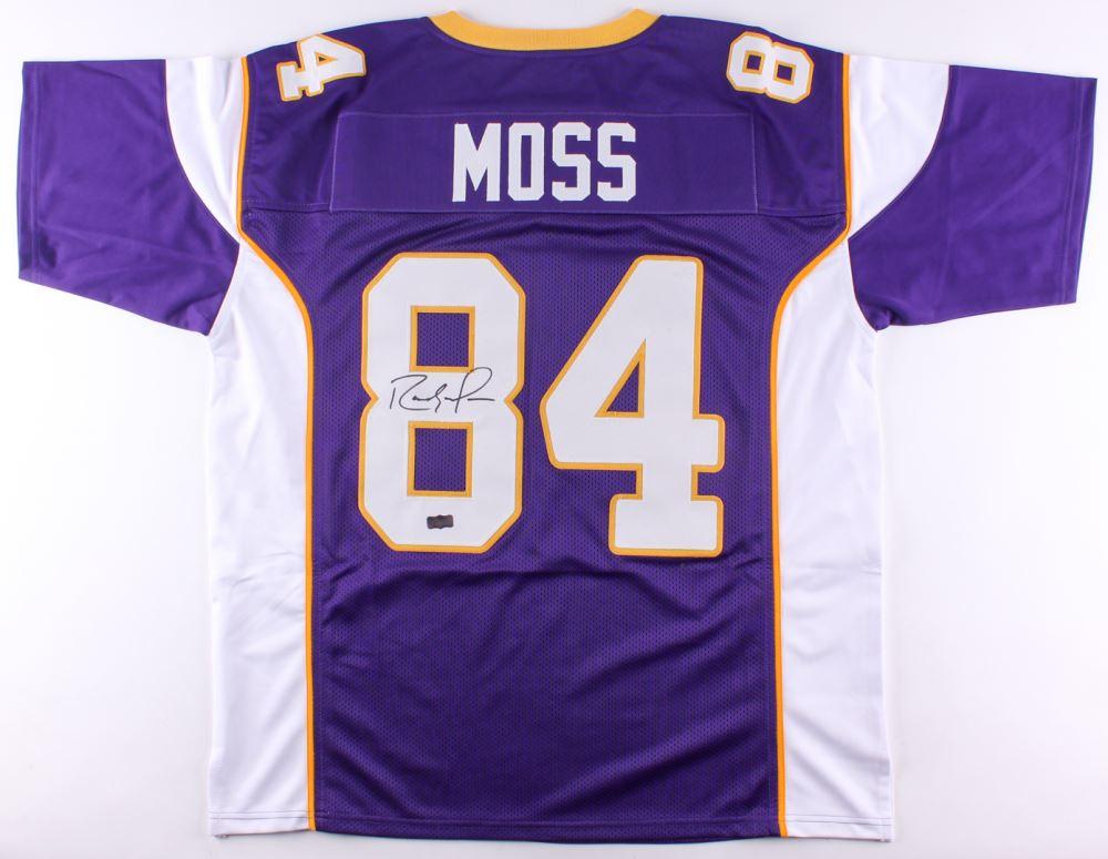 the latest a2f21 b3ded Randy Moss Signed Vikings Jersey (Radtke COA)