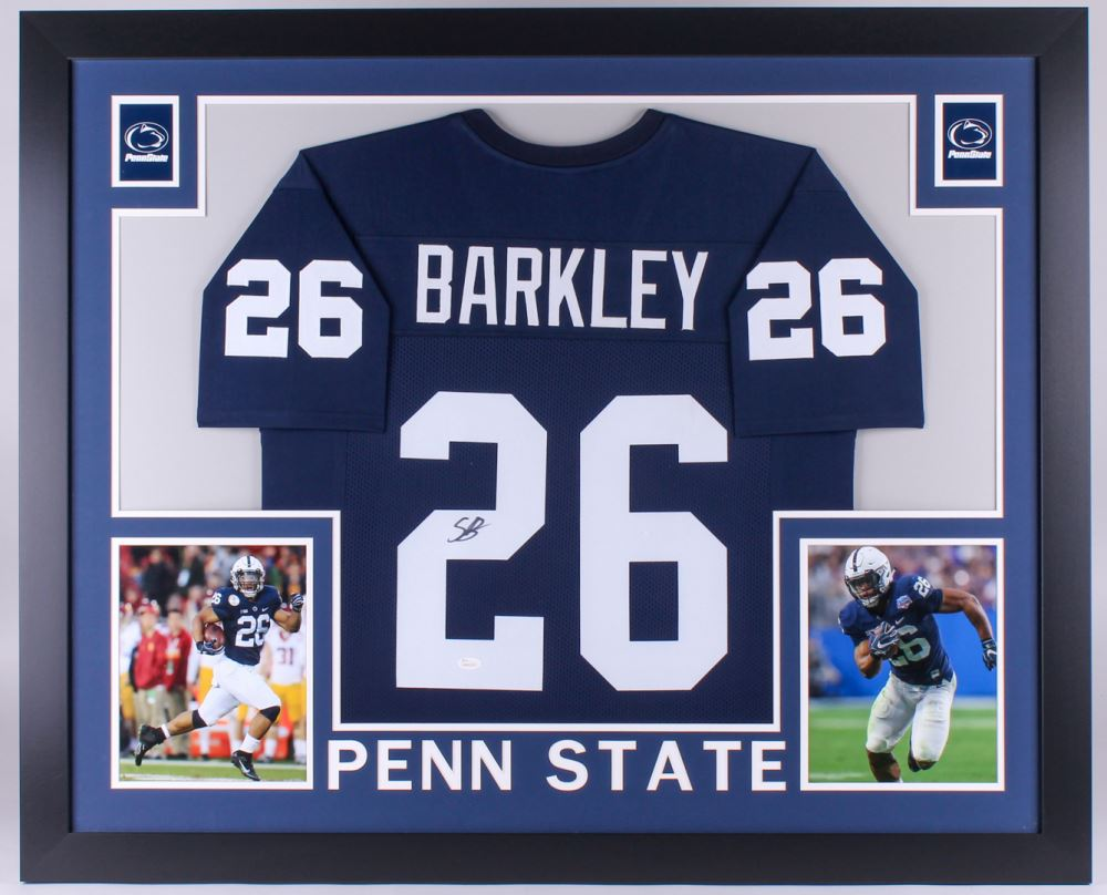 buy popular 8af24 a5925 Saquon Barkley Signed Penn State Nittany Lions 35x43 ...
