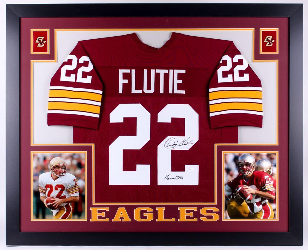cheaper dcc24 4819c Doug Flutie Signed Boston College Eagles 35x43 Custom ...