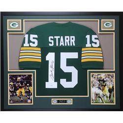 e542454fb1d Bart Starr Signed Packers 35x43 Custom Framed Jersey (JSA LOA)