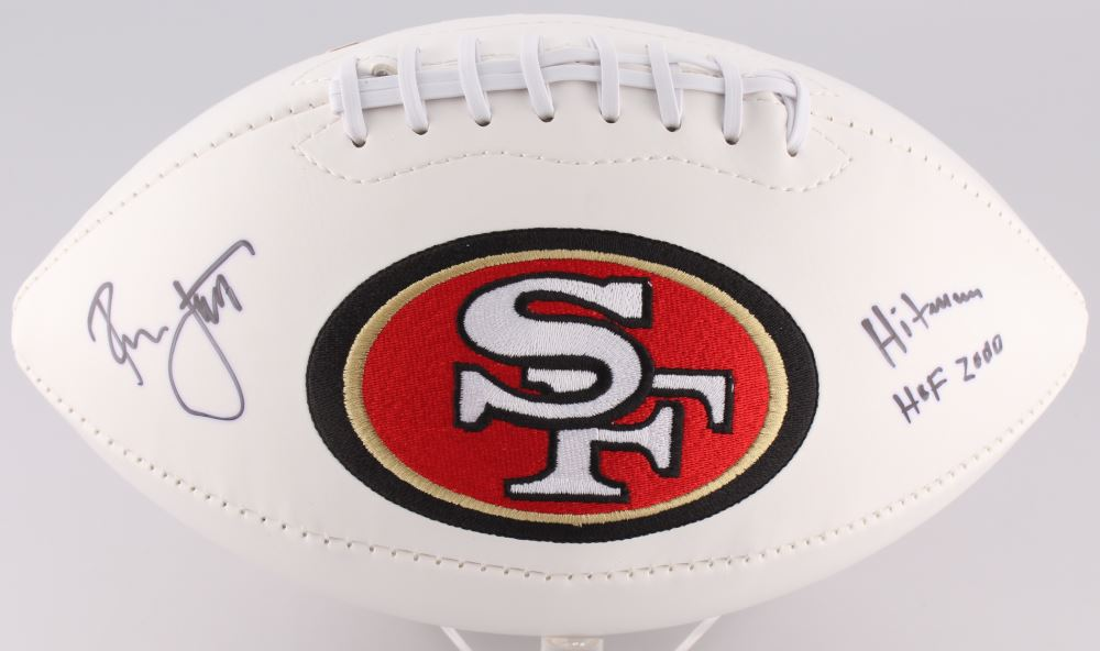 lowest price b4b52 59999 Ronnie Lott Signed 49ers Logo Football Inscribed
