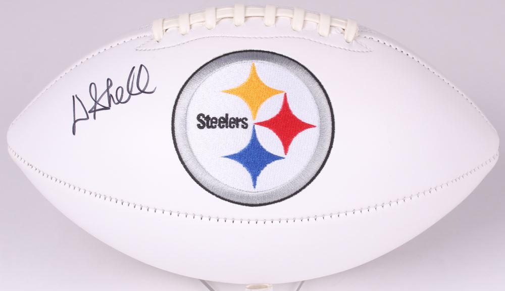 c1493214033 Image 1 : Donnie Shell Signed Steelers Logo Football (JSA COA)