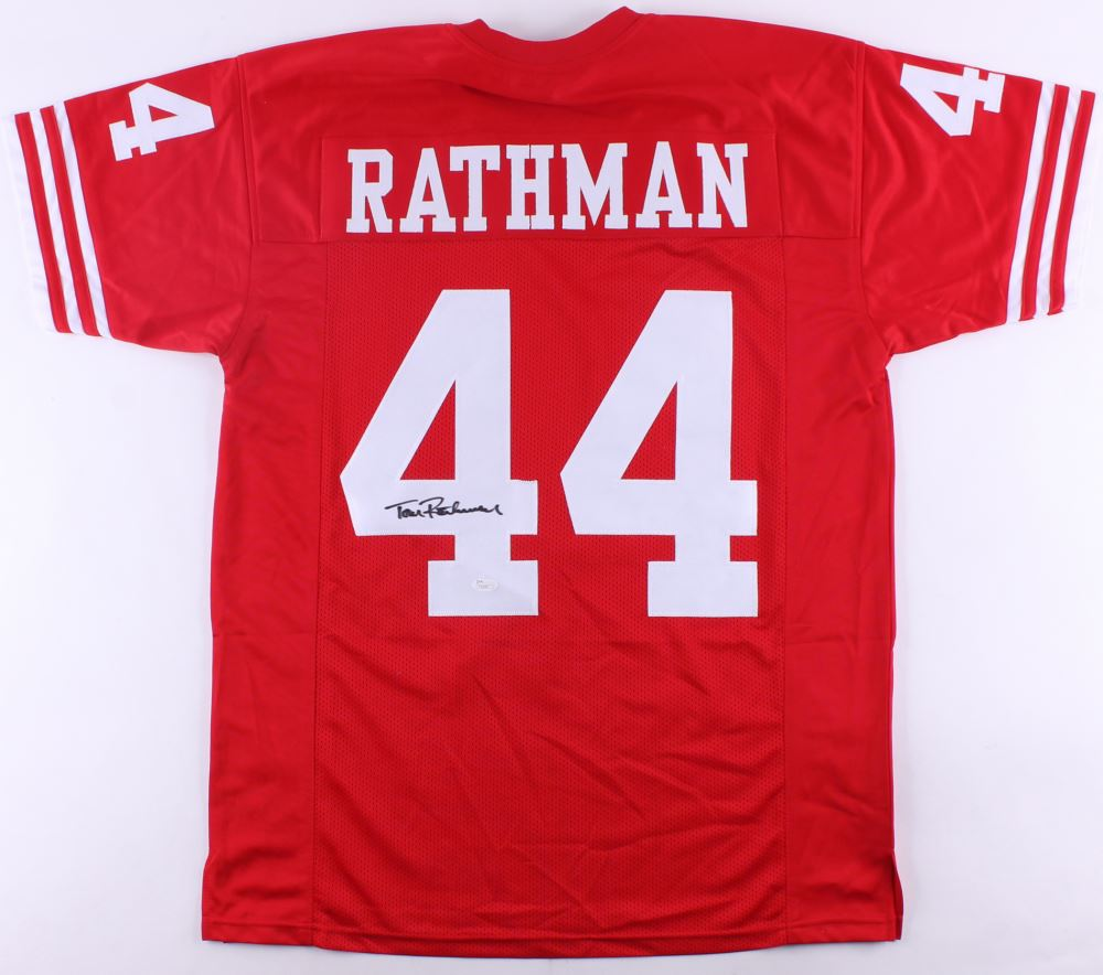 low priced b11e7 955fa Tom Rathman Signed Nebraska Cornhuskers Jersey (JSA COA)