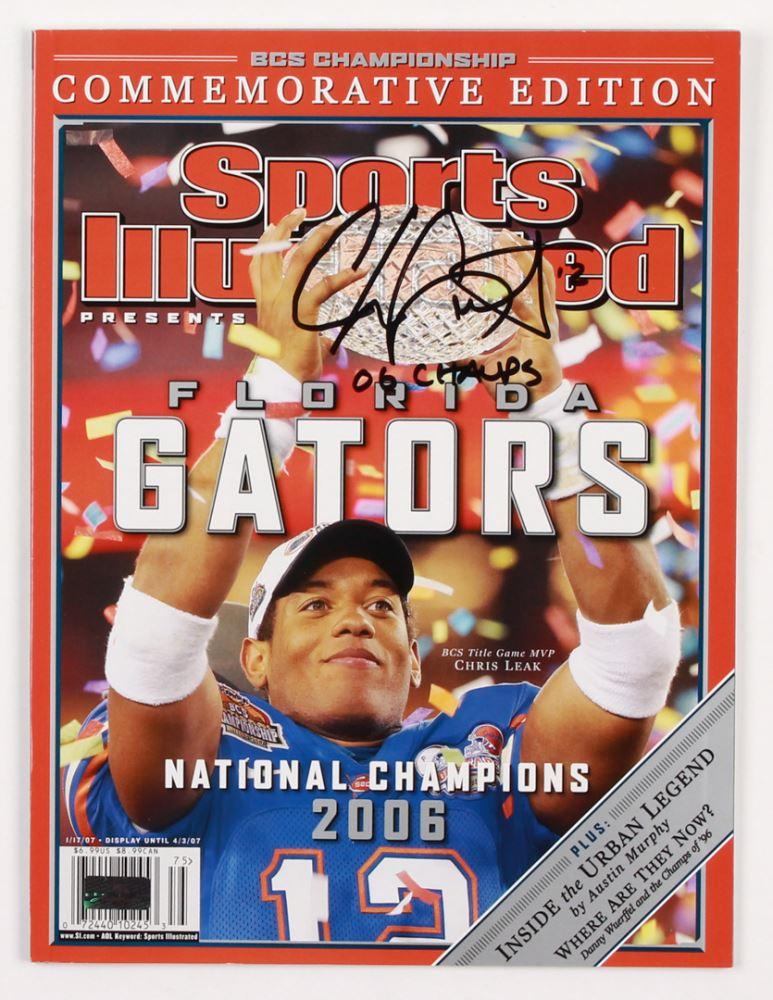 aea3c2265c920 Image 1   Chris Leak Signed Florida Gators 2007 Sports Illustrated Magazine  Inscribed